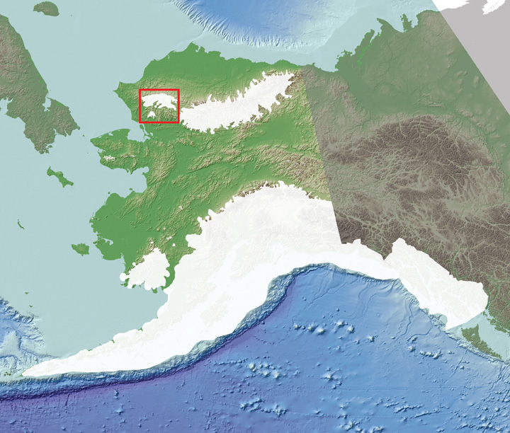 early wisc extent in Alaska